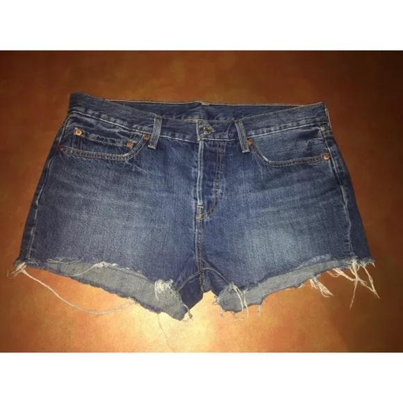 22c520377d1 Levi's Shorts | Levis 501 Cut Off Denim Jean Button Fly | Poshmark